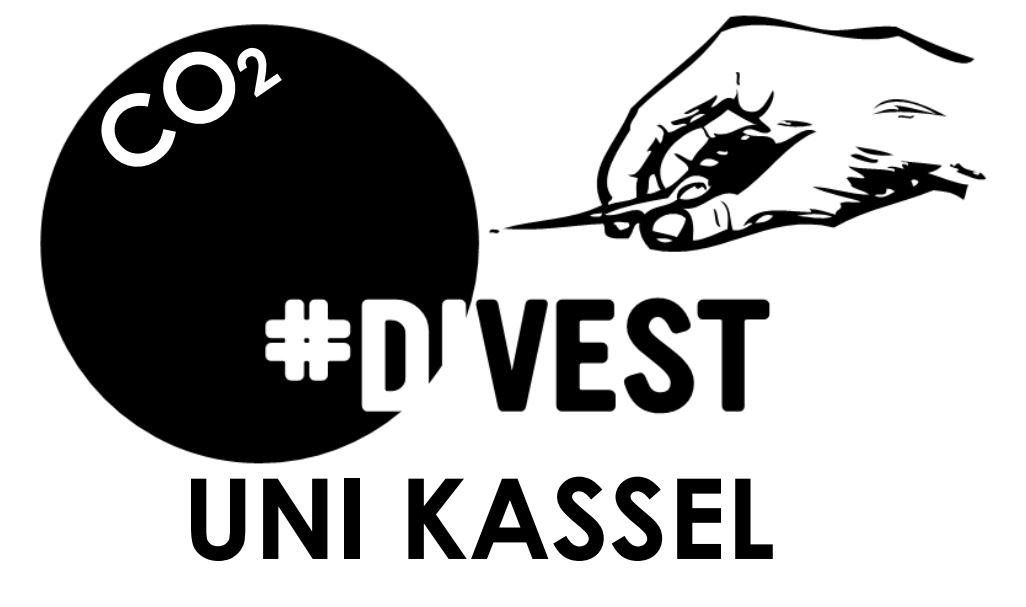 Nadel zersticht die CO2-Blase - Divest Uni Kassel