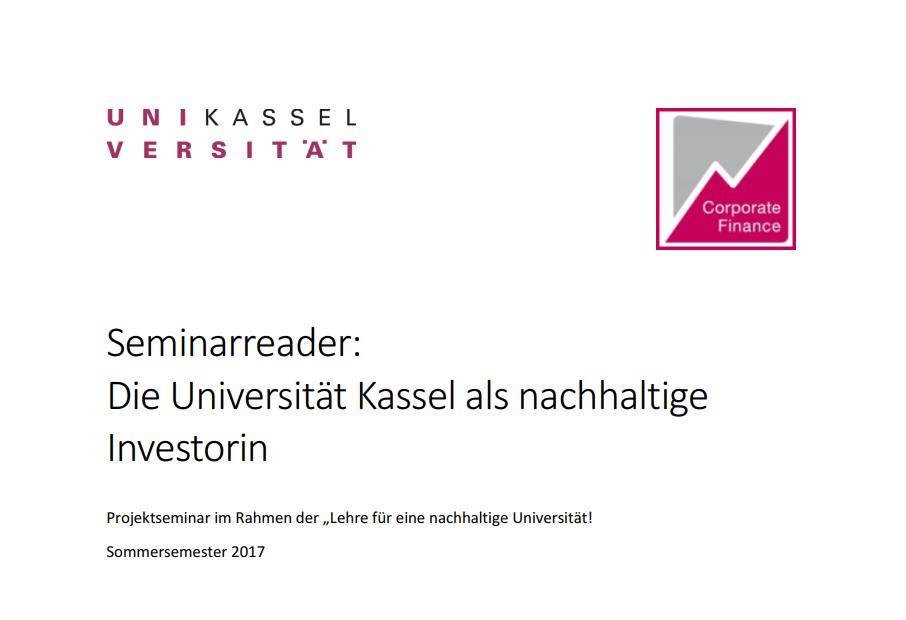 Deckblatt Seminarreader